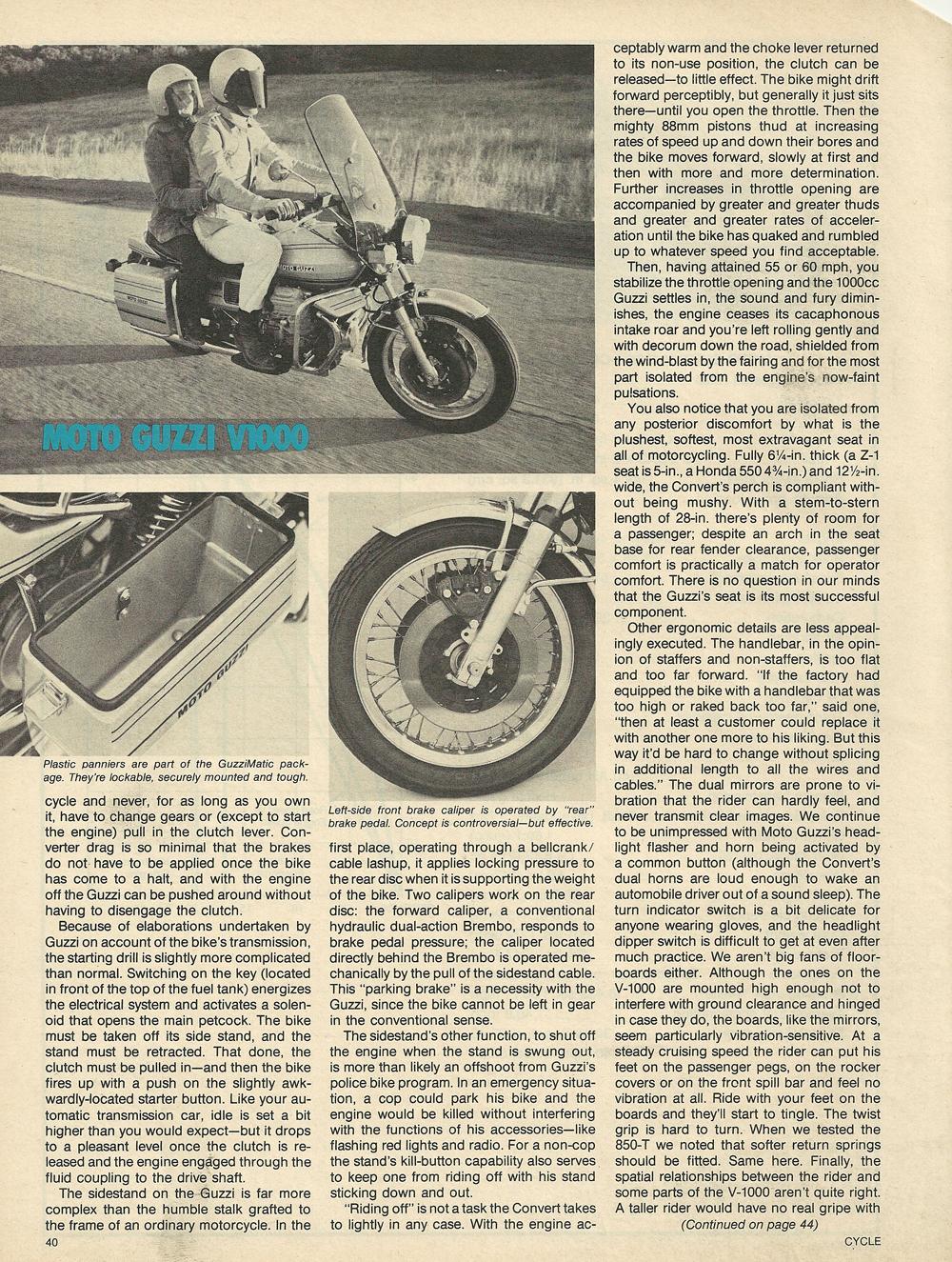 1976 Μoto Guzzi V1000 Convert